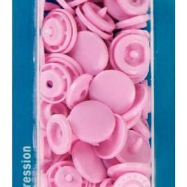 botó de pressió rodó 12,4 mm. rosa Prym 393118