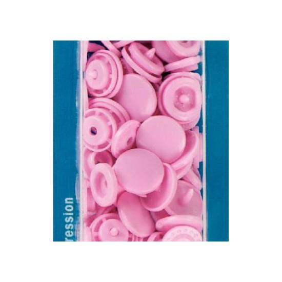 botón de presión redondo 12,4 mm. rosa Prym 393118