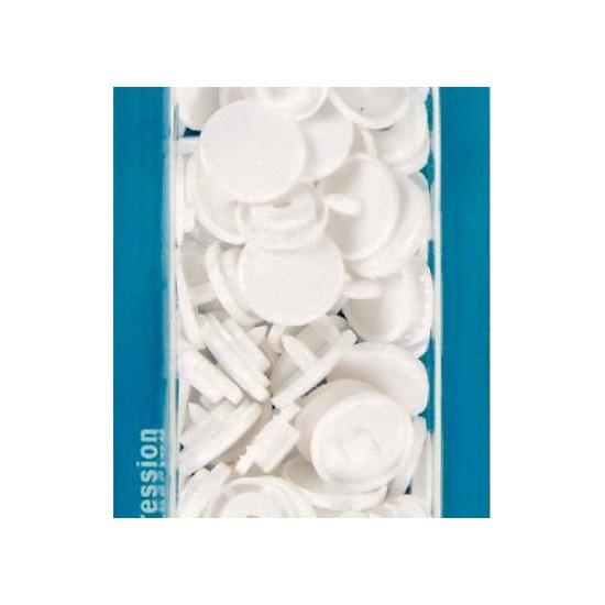 botón de presión redondo 12,4 mm. blanc Prym 393103